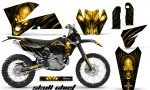 KTM C4 CreatorX Graphics Kit Skull Chief Yellow BB NP Rims 150x90 - KTM C4 SX 2005-2006 EXC 2005-2007 Graphics