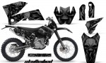KTM C4 CreatorX Graphics Kit Skullcified Black NP Rims 150x90 - KTM C4 SX 2005-2006 EXC 2005-2007 Graphics