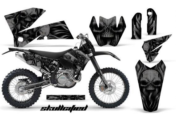 KTM C4 CreatorX Graphics Kit Skullcified Black NP Rims 570x376 - KTM C4 SX 2005-2006 EXC 2005-2007 Graphics