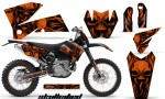 KTM C4 CreatorX Graphics Kit Skullcified Orange NP Rims BB 150x90 - KTM C4 SX 2005-2006 EXC 2005-2007 Graphics