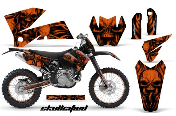 KTM C4 CreatorX Graphics Kit Skullcified Orange NP Rims BB 570x376 - KTM C4 SX 2005-2006 EXC 2005-2007 Graphics