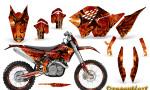 KTM C5 CreatorX Graphics Kit Dragonblast BB NP Rims 150x90 - KTM C5 SX/SX-F 125-525 07-10 / XC 125-525 08-10 / XCW 200-530 2011 / XCFW 250 2011 / EXC 125-530 08-11 Graphics