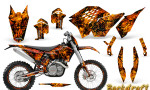 KTM C5 CreatorX Graphics Kit Inferno Backdraft NP Rims 150x90 - KTM C5 SX/SX-F 125-525 07-10 / XC 125-525 08-10 / XCW 200-530 2011 / XCFW 250 2011 / EXC 125-530 08-11 Graphics