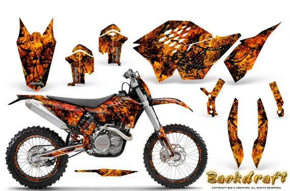 KTM C5 CreatorX Graphics Kit Inferno Backdraft NP Rims 570x376 - KTM C5 SX/SX-F 125-525 07-10 / XC 125-525 08-10 / XCW 200-530 2011 / XCFW 250 2011 / EXC 125-530 08-11 Graphics