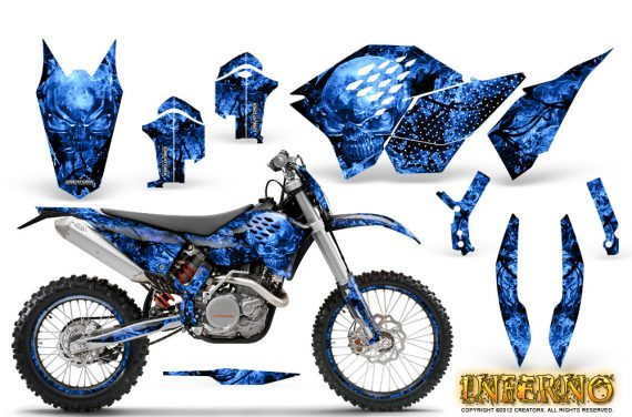 KTM C5 CreatorX Graphics Kit Inferno Blue NP Rims 570x376 - KTM C5 SX/SX-F 125-525 07-10 / XC 125-525 08-10 / XCW 200-530 2011 / XCFW 250 2011 / EXC 125-530 08-11 Graphics