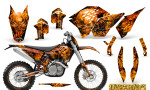 KTM C5 CreatorX Graphics Kit Inferno Orange NP Rims 150x90 - KTM C5 SX/SX-F 125-525 07-10 / XC 125-525 08-10 / XCW 200-530 2011 / XCFW 250 2011 / EXC 125-530 08-11 Graphics