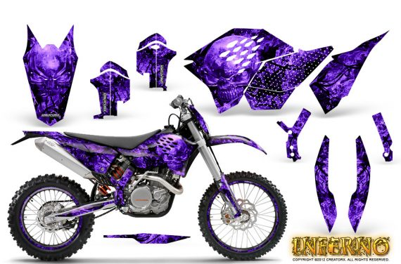 KTM C5 CreatorX Graphics Kit Inferno Purple NP Rims 570x376 - KTM C5 SX/SX-F 125-525 07-10 / XC 125-525 08-10 / XCW 200-530 2011 / XCFW 250 2011 / EXC 125-530 08-11 Graphics