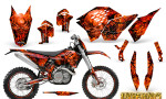 KTM C5 CreatorX Graphics Kit Inferno Red NP Rims 150x90 - KTM C5 SX/SX-F 125-525 07-10 / XC 125-525 08-10 / XCW 200-530 2011 / XCFW 250 2011 / EXC 125-530 08-11 Graphics
