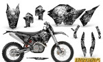 KTM C5 CreatorX Graphics Kit Inferno Silver NP Rims 150x90 - KTM C5 SX/SX-F 125-525 07-10 / XC 125-525 08-10 / XCW 200-530 2011 / XCFW 250 2011 / EXC 125-530 08-11 Graphics
