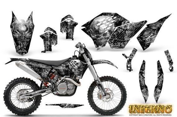 KTM C5 CreatorX Graphics Kit Inferno Silver NP Rims 570x376 - KTM C5 SX/SX-F 125-525 07-10 / XC 125-525 08-10 / XCW 200-530 2011 / XCFW 250 2011 / EXC 125-530 08-11 Graphics