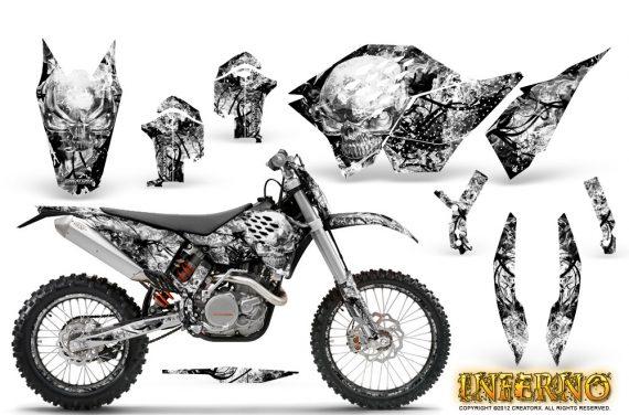 KTM C5 CreatorX Graphics Kit Inferno White NP Rims 570x376 - KTM C5 SX/SX-F 125-525 07-10 / XC 125-525 08-10 / XCW 200-530 2011 / XCFW 250 2011 / EXC 125-530 08-11 Graphics