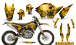 KTM C5 CreatorX Graphics Kit Inferno Yellow NP Rims 150x90 - KTM C5 SX/SX-F 125-525 07-10 / XC 125-525 08-10 / XCW 200-530 2011 / XCFW 250 2011 / EXC 125-530 08-11 Graphics