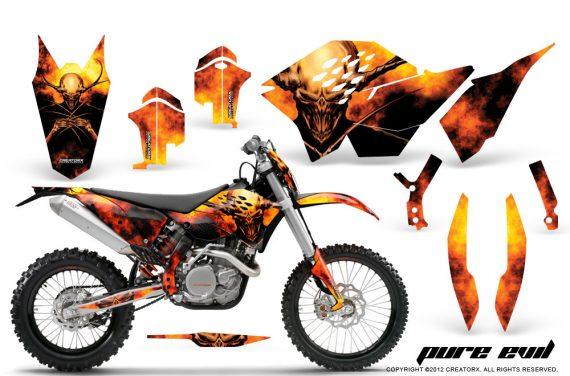 KTM C5 CreatorX Graphics Kit Pure Evil BB NP 570x376 - KTM C5 SX/SX-F 125-525 07-10 / XC 125-525 08-10 / XCW 200-530 2011 / XCFW 250 2011 / EXC 125-530 08-11 Graphics