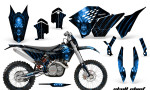 KTM C5 CreatorX Graphics Kit Skull Chief Blue NP Rims 150x90 - KTM C5 SX/SX-F 125-525 07-10 / XC 125-525 08-10 / XCW 200-530 2011 / XCFW 250 2011 / EXC 125-530 08-11 Graphics