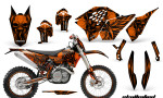 KTM C5 CreatorX Graphics Kit Skullcified Orange Flat NP Rims 150x90 - KTM C5 SX/SX-F 125-525 07-10 / XC 125-525 08-10 / XCW 200-530 2011 / XCFW 250 2011 / EXC 125-530 08-11 Graphics