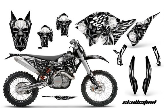 KTM C5 CreatorX Graphics Kit Skullcified Silver NP Rims BB 570x376 - KTM C5 SX/SX-F 125-525 07-10 / XC 125-525 08-10 / XCW 200-530 2011 / XCFW 250 2011 / EXC 125-530 08-11 Graphics