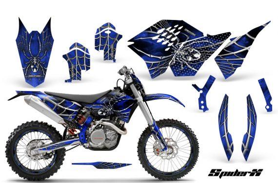 KTM C5 CreatorX Graphics Kit SpiderX Blue NP Rims 570x376 - KTM C5 SX/SX-F 125-525 07-10 / XC 125-525 08-10 / XCW 200-530 2011 / XCFW 250 2011 / EXC 125-530 08-11 Graphics
