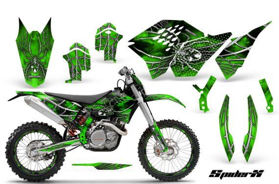 KTM C5 CreatorX Graphics Kit SpiderX Green NP Rims 570x376 - KTM C5 SX/SX-F 125-525 07-10 / XC 125-525 08-10 / XCW 200-530 2011 / XCFW 250 2011 / EXC 125-530 08-11 Graphics