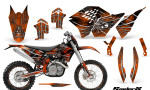 KTM C5 CreatorX Graphics Kit SpiderX Orange NP Rims 150x90 - KTM C5 SX/SX-F 125-525 07-10 / XC 125-525 08-10 / XCW 200-530 2011 / XCFW 250 2011 / EXC 125-530 08-11 Graphics