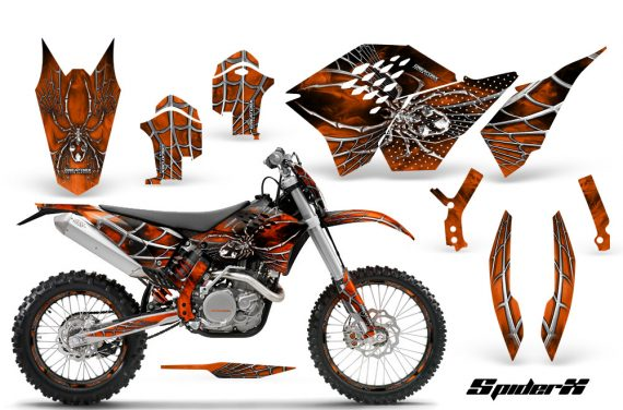 KTM C5 CreatorX Graphics Kit SpiderX Orange NP Rims 570x376 - KTM C5 SX/SX-F 125-525 07-10 / XC 125-525 08-10 / XCW 200-530 2011 / XCFW 250 2011 / EXC 125-530 08-11 Graphics