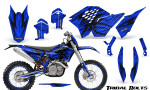 KTM C5 CreatorX Graphics Kit Tribal Bolts Blue NP Rims 150x90 - KTM C5 SX/SX-F 125-525 07-10 / XC 125-525 08-10 / XCW 200-530 2011 / XCFW 250 2011 / EXC 125-530 08-11 Graphics