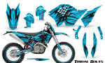 KTM C5 CreatorX Graphics Kit Tribal Bolts BlueIce NP Rims 150x90 - KTM C5 SX/SX-F 125-525 07-10 / XC 125-525 08-10 / XCW 200-530 2011 / XCFW 250 2011 / EXC 125-530 08-11 Graphics