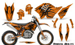 KTM C5 CreatorX Graphics Kit Tribal Bolts Orange NP Rims 150x90 - KTM C5 SX/SX-F 125-525 07-10 / XC 125-525 08-10 / XCW 200-530 2011 / XCFW 250 2011 / EXC 125-530 08-11 Graphics