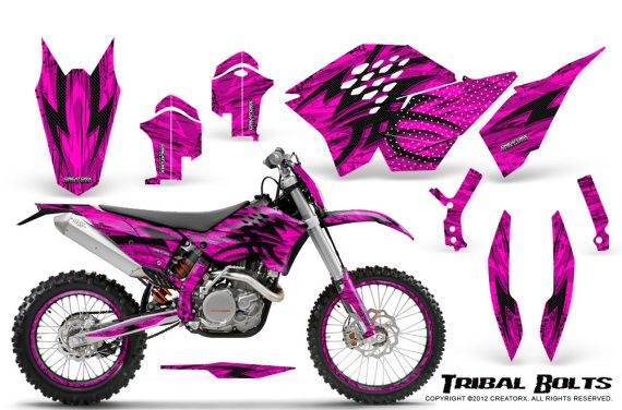 KTM C5 CreatorX Graphics Kit Tribal Bolts Pink NP Rims 570x376 - KTM C5 SX/SX-F 125-525 07-10 / XC 125-525 08-10 / XCW 200-530 2011 / XCFW 250 2011 / EXC 125-530 08-11 Graphics