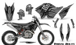 KTM C5 CreatorX Graphics Kit Tribal Bolts Silver NP Rims 150x90 - KTM C5 SX/SX-F 125-525 07-10 / XC 125-525 08-10 / XCW 200-530 2011 / XCFW 250 2011 / EXC 125-530 08-11 Graphics