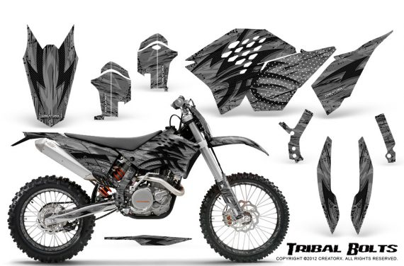 KTM C5 CreatorX Graphics Kit Tribal Bolts Silver NP Rims 570x376 - KTM C5 SX/SX-F 125-525 07-10 / XC 125-525 08-10 / XCW 200-530 2011 / XCFW 250 2011 / EXC 125-530 08-11 Graphics