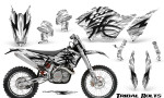 KTM C5 CreatorX Graphics Kit Tribal Bolts White NP Rims 150x90 - KTM C5 SX/SX-F 125-525 07-10 / XC 125-525 08-10 / XCW 200-530 2011 / XCFW 250 2011 / EXC 125-530 08-11 Graphics
