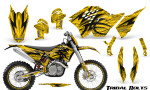 KTM C5 CreatorX Graphics Kit Tribal Bolts Yellow NP Rims 150x90 - KTM C5 SX/SX-F 125-525 07-10 / XC 125-525 08-10 / XCW 200-530 2011 / XCFW 250 2011 / EXC 125-530 08-11 Graphics