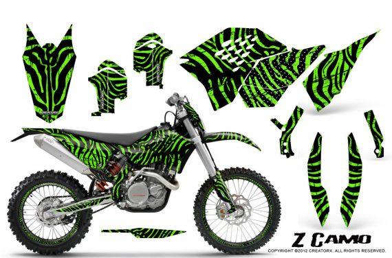 KTM C5 CreatorX Graphics Kit ZCamo Green NP Rims 570x376 - KTM C5 SX/SX-F 125-525 07-10 / XC 125-525 08-10 / XCW 200-530 2011 / XCFW 250 2011 / EXC 125-530 08-11 Graphics