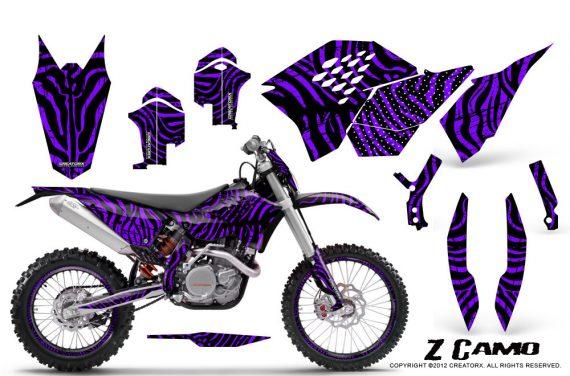 KTM C5 CreatorX Graphics Kit ZCamo Purple NP Rims 570x376 - KTM C5 SX/SX-F 125-525 07-10 / XC 125-525 08-10 / XCW 200-530 2011 / XCFW 250 2011 / EXC 125-530 08-11 Graphics