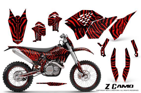 KTM C5 CreatorX Graphics Kit ZCamo Red NP Rims 570x376 - KTM C5 SX/SX-F 125-525 07-10 / XC 125-525 08-10 / XCW 200-530 2011 / XCFW 250 2011 / EXC 125-530 08-11 Graphics