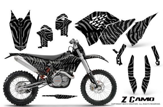 KTM C5 CreatorX Graphics Kit ZCamo Silver NP Rims 570x376 - KTM C5 SX/SX-F 125-525 07-10 / XC 125-525 08-10 / XCW 200-530 2011 / XCFW 250 2011 / EXC 125-530 08-11 Graphics