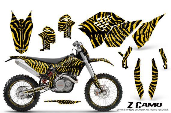 KTM C5 CreatorX Graphics Kit ZCamo Yellow NP Rims 570x376 - KTM C5 SX/SX-F 125-525 07-10 / XC 125-525 08-10 / XCW 200-530 2011 / XCFW 250 2011 / EXC 125-530 08-11 Graphics