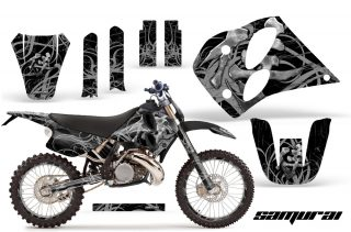 KTM C6 CreatorX Graphics Kit Samurai Silver Black NP Rims 320x211 - KTM C6 SX Two Stroke Models 1993-1997 Graphics