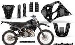 KTM C6 CreatorX Graphics Kit Skullcified Black NP Rims 150x90 - KTM C6 SX Two Stroke Models 1993-1997 Graphics