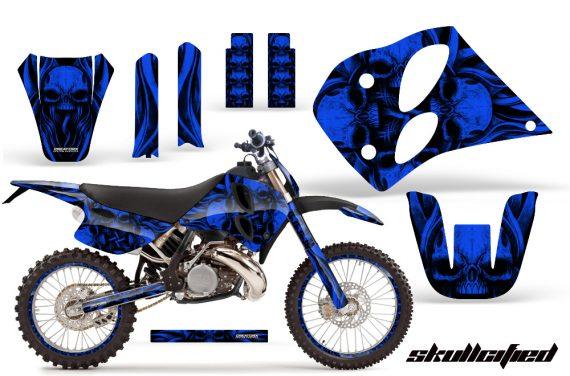 KTM C6 CreatorX Graphics Kit Skullcified Blue NP Rims 570x376 - KTM C6 SX Two Stroke Models 1993-1997 Graphics