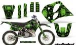 KTM C6 CreatorX Graphics Kit Skullcified Green NP Rims 150x90 - KTM C6 SX Two Stroke Models 1993-1997 Graphics