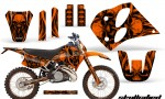 KTM C6 CreatorX Graphics Kit Skullcified Orange NP Rims 150x90 - KTM C6 SX Two Stroke Models 1993-1997 Graphics