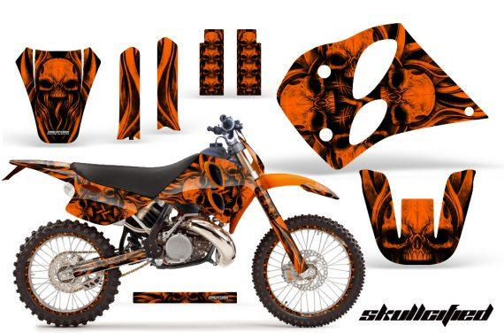 KTM C6 CreatorX Graphics Kit Skullcified Orange NP Rims 570x376 - KTM C6 SX Two Stroke Models 1993-1997 Graphics