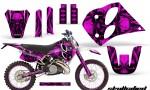 KTM C6 CreatorX Graphics Kit Skullcified Pink NP Rims 150x90 - KTM C6 SX Two Stroke Models 1993-1997 Graphics
