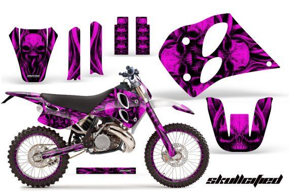 KTM C6 CreatorX Graphics Kit Skullcified Pink NP Rims 570x376 - KTM C6 SX Two Stroke Models 1993-1997 Graphics