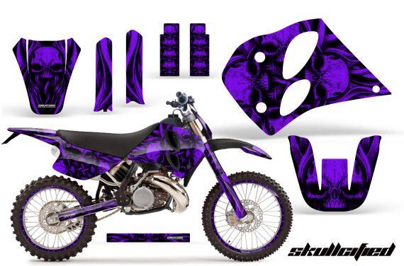 KTM C6 CreatorX Graphics Kit Skullcified Purple NP Rims 570x376 - KTM C6 SX Two Stroke Models 1993-1997 Graphics