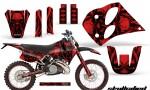 KTM C6 CreatorX Graphics Kit Skullcified Red NP Rims 150x90 - KTM C6 SX Two Stroke Models 1993-1997 Graphics