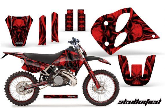 KTM C6 CreatorX Graphics Kit Skullcified Red NP Rims 570x376 - KTM C6 SX Two Stroke Models 1993-1997 Graphics