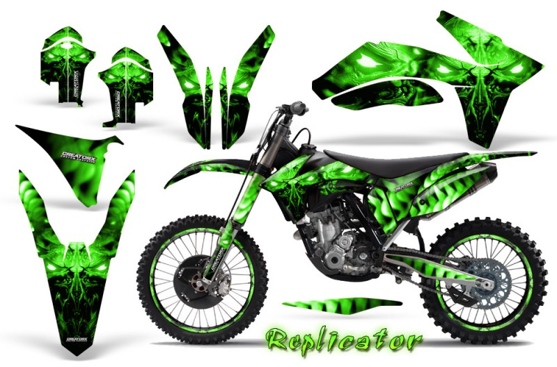 KTM-C7-2011-CreatorX-Graphics-Kit-Replicator-Green-NP-Rims