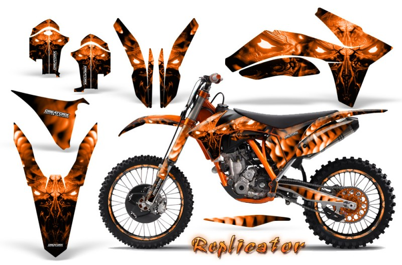 KTM-C7-2011-CreatorX-Graphics-Kit-Replicator-Orange-NP-Rims